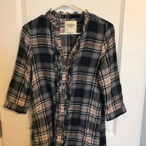 abercrombie & fitch plaid shirt dress